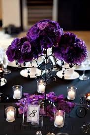 purple wedding centerpieces black and purple wedding decorations wedding corners