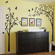 trees with flying birds wall sticker by wall art