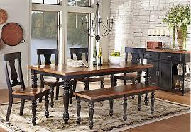 cottage dining room sets hillside cottage black 5 pc dining room from dining room sets