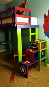diy superhero toddler loft bed u0026 cubby stairs baby utility