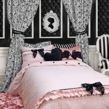 Pink Striped Comforter Black And White Stripe Bedding Foter