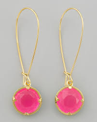 pink drop earrings lyst kate spade drop earrings in pink