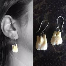 human earrings human teeth earrings darwin and wallace a nature fossil store