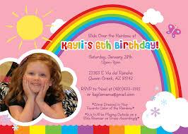 rainbow birthday invitation wording alanarasbach com
