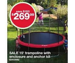 will trampolines go on sale on amazon black friday inch trampoline with enclosure and anchor kit deal at kmart black