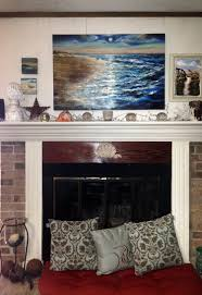 painting over fireplace decorating idea inexpensive fresh at