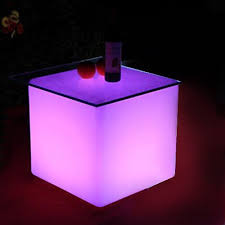 led cube coffee tables for rent ny nj and long island