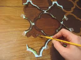 painted desk ideas 31 diy quatrefoil painted desk tutorial