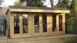 Office Garden Shed Wooden Garden Office At Home Designs Uk Youtube
