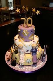 70th birthday cakes joint 70th birthday cake bates cakes