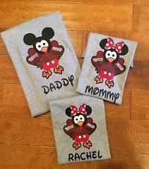 disney thanksgiving turkey family mickey ir minnie vacation t shirt