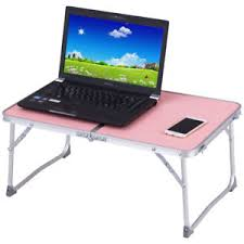 Pink Laptop Desk Portable Folding Table Car Bed Sofa Laptop Notebook Desk Tray