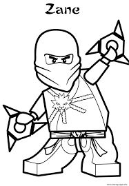 zane ninjago sa0ef coloring pages printable