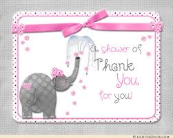 baby thank you notes elephant baby thank you card shower blessing sweet