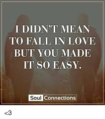 Fall Memes - i didn t mean to fall in love but you made it so easy soul