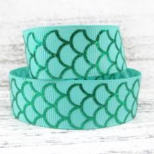 mermaid ribbon online shop david accessories 7 8 mermaid foil fish scale silver