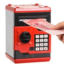 money box design metal piggy money telephone booth kids coin saving pot