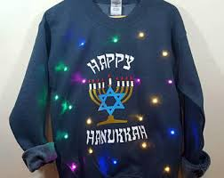 light up hanukkah sweater light up ugly hanukkah sweater with multicolor led
