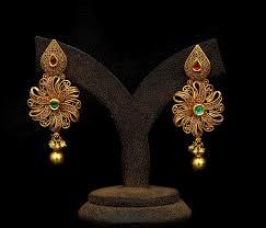 gold earrings design sunflower drop earrings jewellery designs