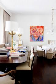 White House Gold Curtains by Tour An Art Filled Nashville Mansion Colorful Artwork Dark Wood