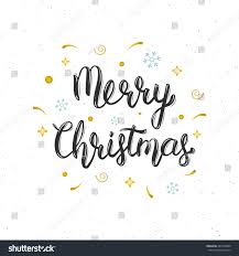 merry christmas modern merry christmas hand written modern brush stock vector 482158840