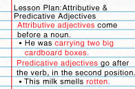 attributive u0026 predicative adjectives lesson turtle diary