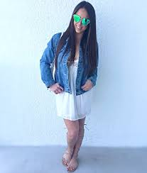 ootd embroidered denim jacket beauty and the least