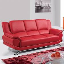 global furniture bonded leather sofa red serpentine sofa with metal legs global furniture leather sofa
