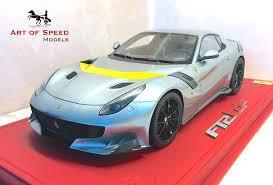 Ferrari F12 Yellow - 1 18 bbr ferrari f12 tdf grey w yellow stripe u2013 art of speed models