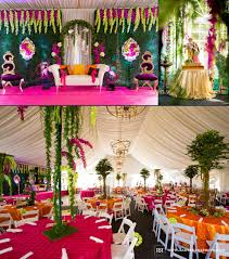 elegance decor chicago indian wedding reception decor rahul rana