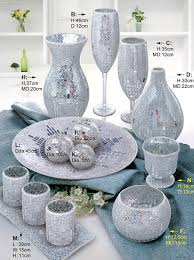 Silver Vase Wholesale Europe Style Handmade Elegant Glass Crackle Silver Mosaic