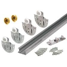 Sliding Closet Door Kit Prime Line Bypass Closet Door Track Kit 163592 The Home Depot