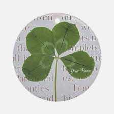 four leaf clover ornament cafepress