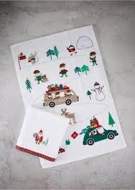 christmas towels christmas tea towels utensils textiles bakeware matalan