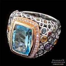 topaz gemstone rings images Bellarri jewelry blue topaz multi gemstone ring jpg