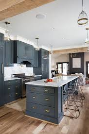 navy blue kitchen cabinets with brass hardware pin on kitchens