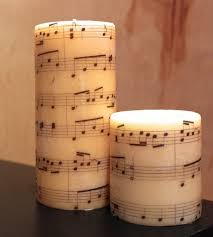diy image transfer candles music notes note and craft