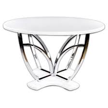 Chrome Pedestal Iohomes High Glossed Fountain Chrome Pedestal Round Dining Table