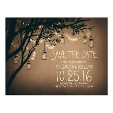 rustic save the dates rustic country lights jars save the date postcard zazzle
