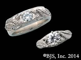 14k palladium white gold his and s nenya box set from the lord of the rings