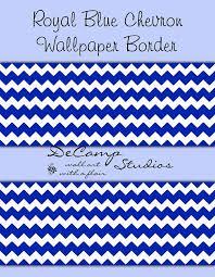 blue ombre chevron wallpaper border decal wall art boy nursery