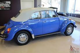blue volkswagen convertible vw beetle convertible fuel injection