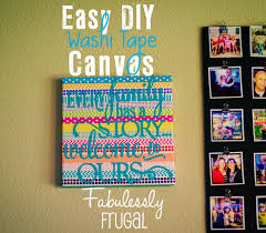what is washi tape easy diy washi tape canvas fabulessly frugal
