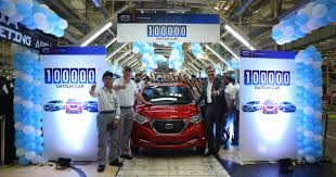 subaru india datsun rolls out 100 000th car in india since start of production