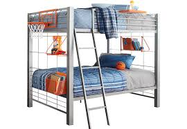 BuildaBunk Gray  Pc Twin Twin Bunk Bed BunkLoft Beds Metal - Rooms to go bunk bed