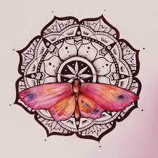 mandala butterfly watercolor by elenoosh ideas