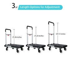 Olympia 300 Lb Capacity Folding Platform Cart by Amazon Com Dolly Cart Flatform 300lb Capacity 4 Wheel Folding