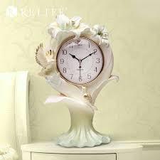 mechanical desk clock lily carved decorative mechanical desk clock 3d modern design home