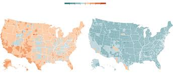 map of us states based on population how americans think about climate change in six maps the new