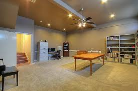 basement with ceiling fan u0026 carpet in houston tx zillow digs